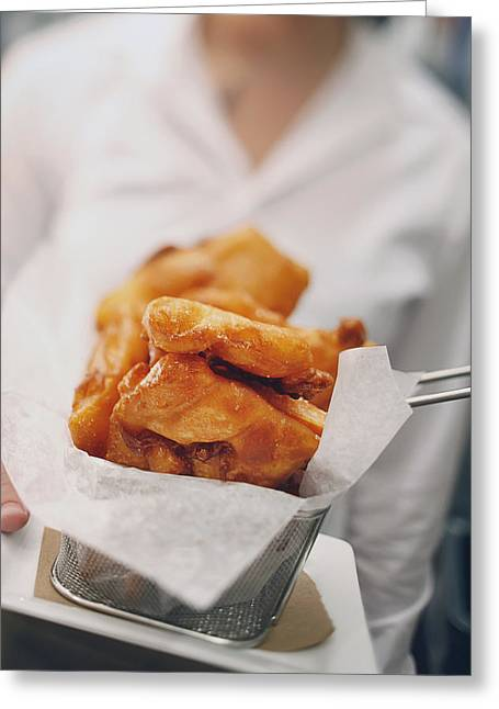 Fried Food In A Restaurant Boston Greeting Card by Eric Kulin