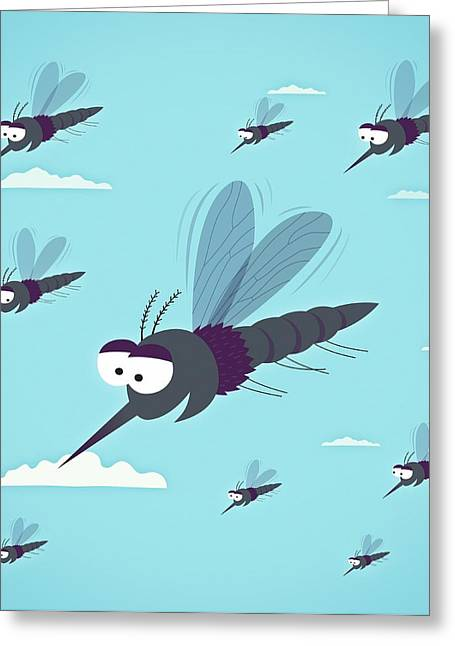 Friendly Mosquitos Greeting Card by Mark Airs