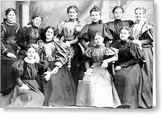Them Wacky Women Of The Late 1800s Greeting Card by Steve Archbold