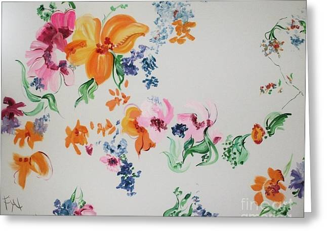 Friends Are Like Flowers Greeting Card by PainterArtist FIN