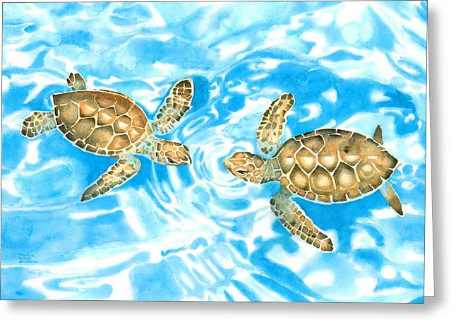 Friends Baby Sea Turtles Greeting Card