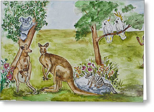 Friends Down Under Greeting Card