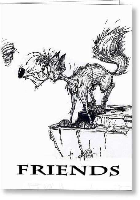 Friends Greeting Card by Wayne Carlisi