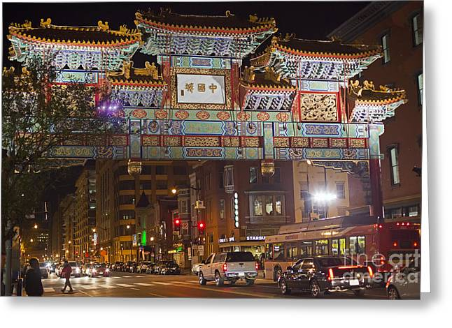Friendship Archway In Chinatown Greeting Card