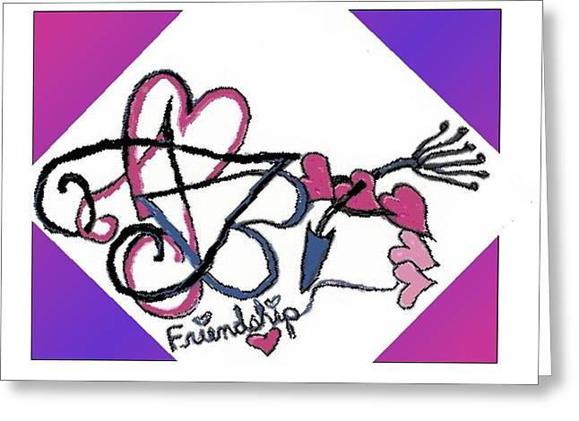 Friendship Greeting Card by Becky Sterling