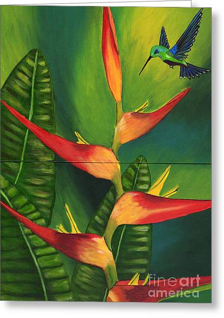 Greeting Card featuring the painting Friendship by Laura Forde