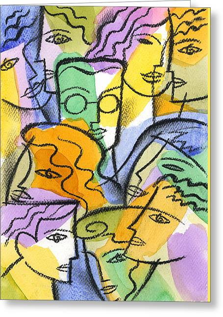 Friendship Greeting Card by Leon Zernitsky