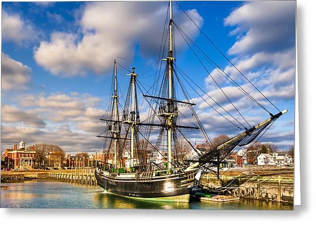 Friendship Of Salem At Harbor Greeting Card