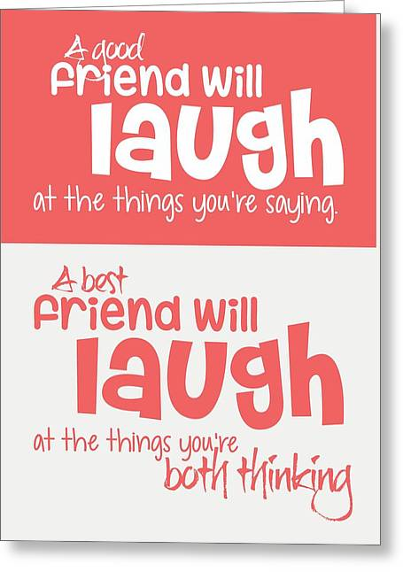 Friendship Typography Print Poster Greeting Card