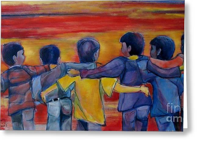 Friendship Walk - Children Greeting Card