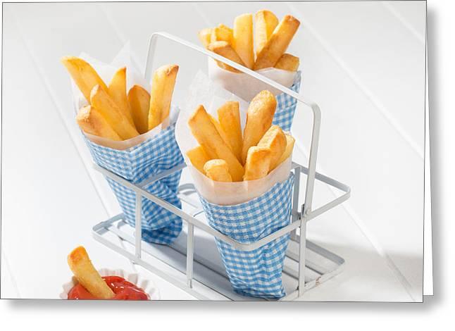 Fries Greeting Card by Amanda Elwell