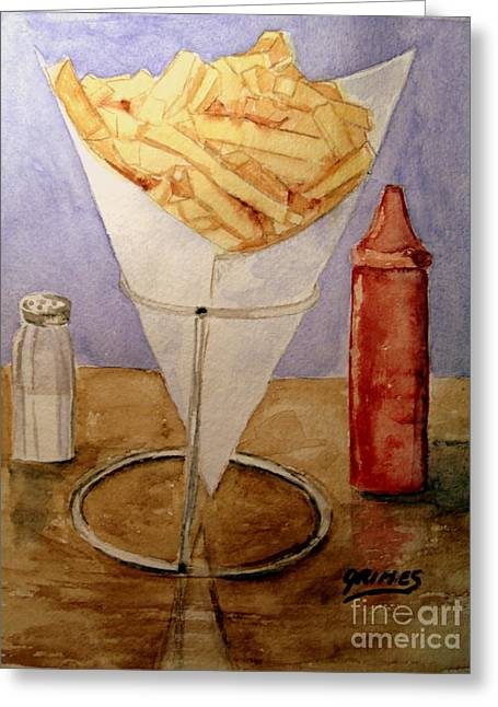 Fries For Lunch Greeting Card by Carol Grimes
