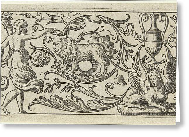 Frieze With Lion, Anonymous Greeting Card by Anonymous
