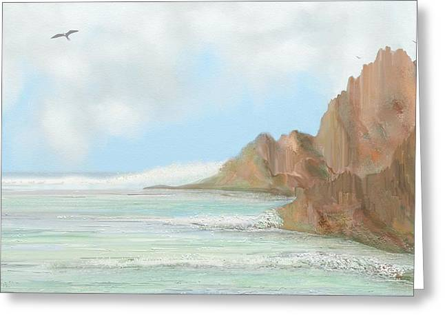 Frigate Bird Seascape Greeting Card