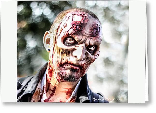 Greeting Card featuring the photograph Frightfulness Bones by Stwayne Keubrick