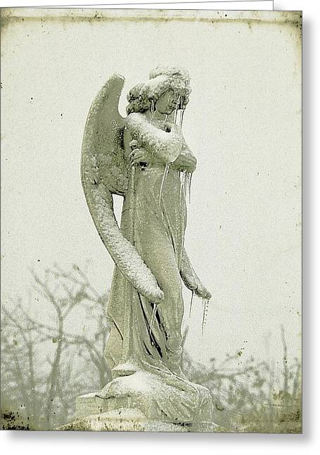 Frigid Angel Greeting Card by Gothicrow Images