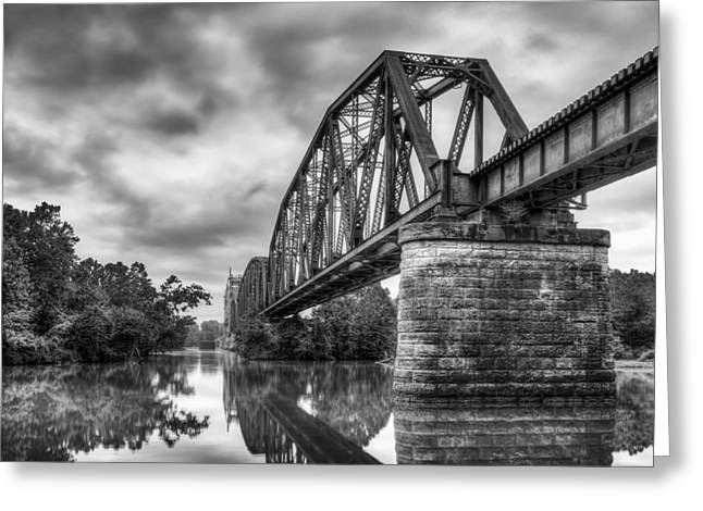 Frisco Bridge In Monochrome Greeting Card by James Barber