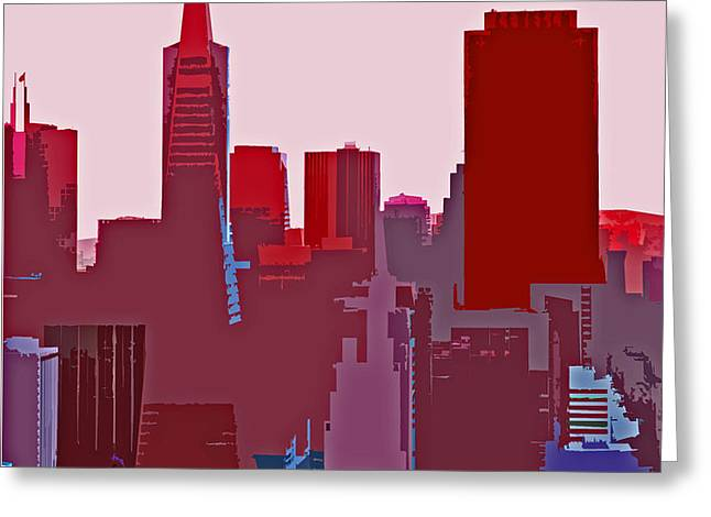 Frisco Skyline Greeting Card