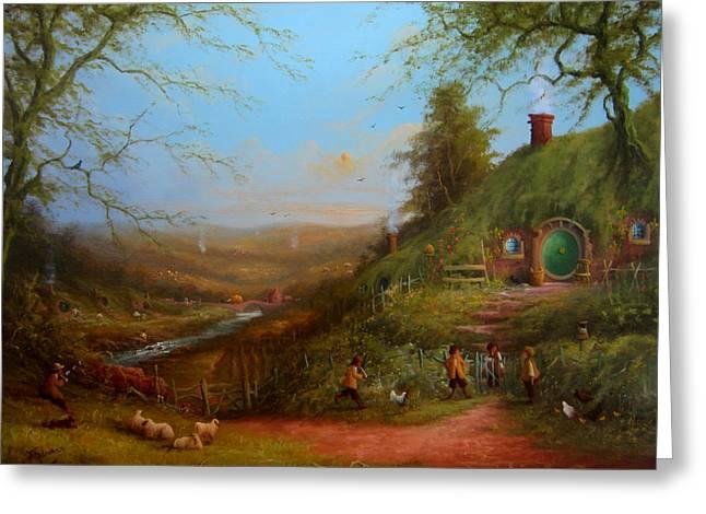 Frodo's Inheritance Bag End Greeting Card by Joe  Gilronan