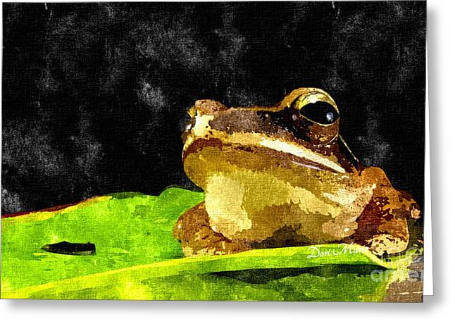 Frog Art Print 1 Greeting Card by Dori Marie Art By Design