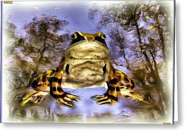 Greeting Card featuring the digital art Frog by Daniel Janda