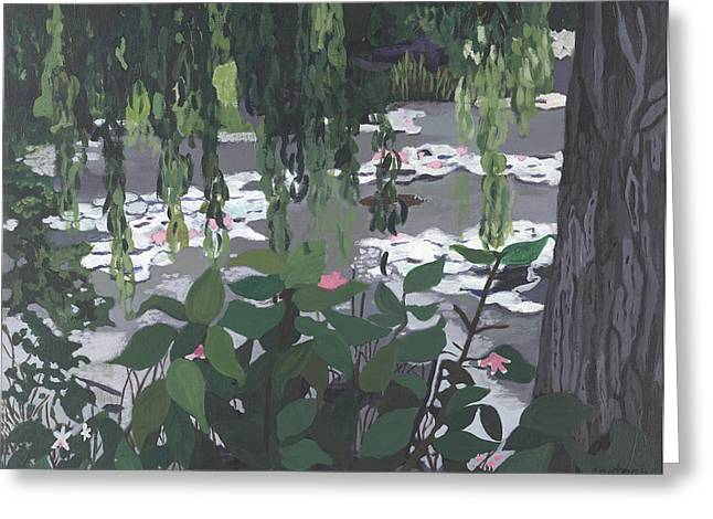 Frog Heaven Greeting Card by Jane Croteau