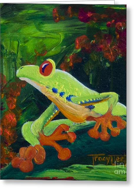 Frog Heaven Greeting Card by Tracy L Teeter