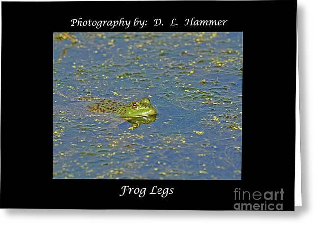 Frog Legs Greeting Card by Dennis Hammer