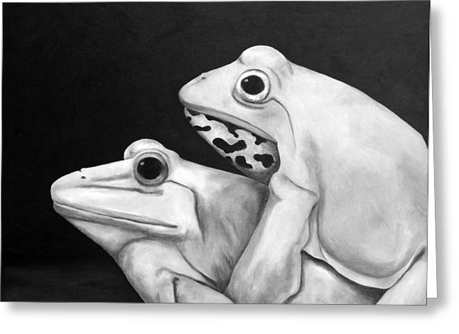 Froggy Style Edit 3 Greeting Card by Leah Saulnier The Painting Maniac