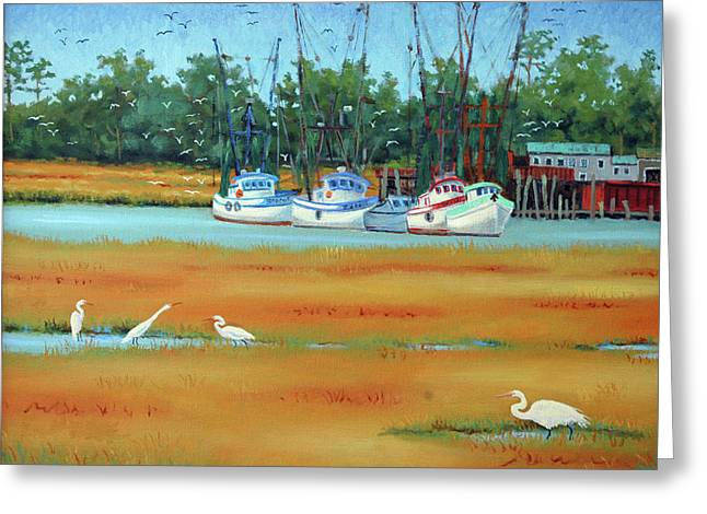 Frogmore Boats Greeting Card