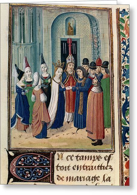 Froissart's Chronicles Greeting Card by British Library