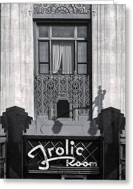 Frolic Room In Black And White Greeting Card by Gregory Dyer