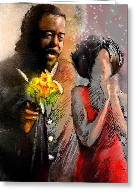Miki Digital Greeting Cards - From Barry White With Love Greeting Card by Miki De Goodaboom