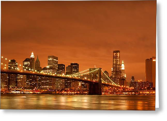 Buero Greeting Cards - From Brooklyn to Manhattan Greeting Card by Andreas Freund