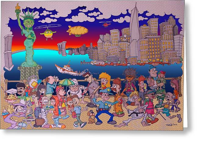 From Brooklyn With Love Greeting Card by Paul Calabrese