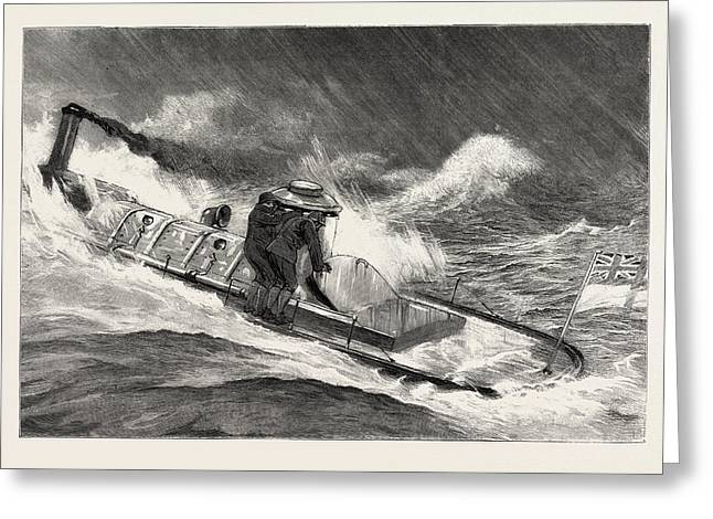 From Hong Kong To Macao In A Torpedo Boat, Full Speed Greeting Card