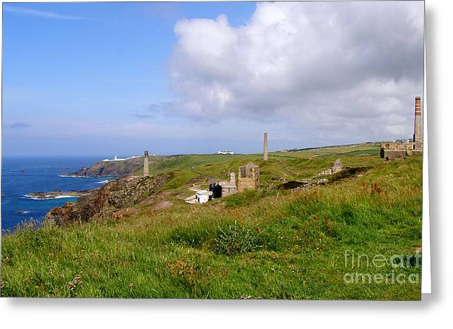 From Levant To Pendeen Cornwall Greeting Card by Terri Waters