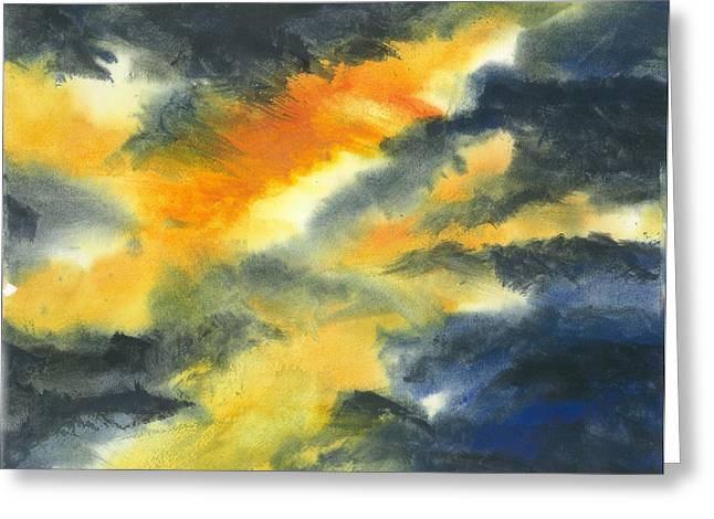 From Light Into Dark Greeting Card by Karen  Condron