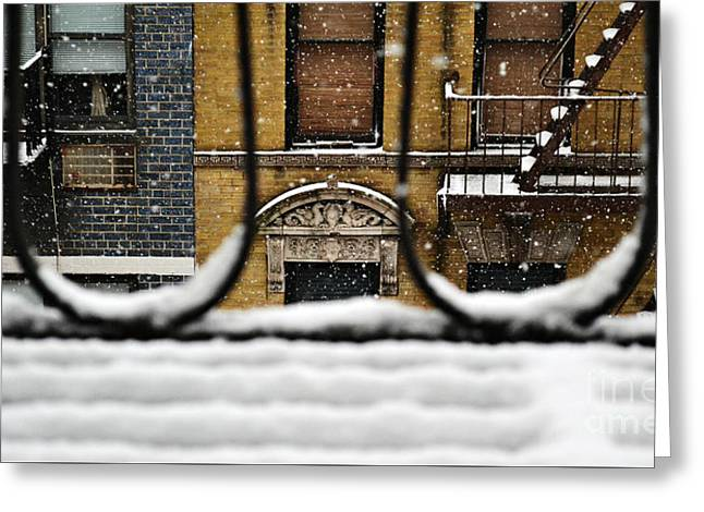 From My Fire Escape - Arches In The Snow Greeting Card