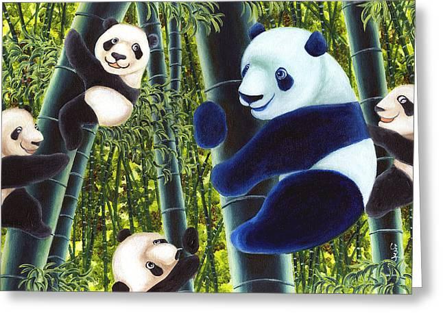 From Okin The Panda Illustration 1 Greeting Card by Hiroko Sakai