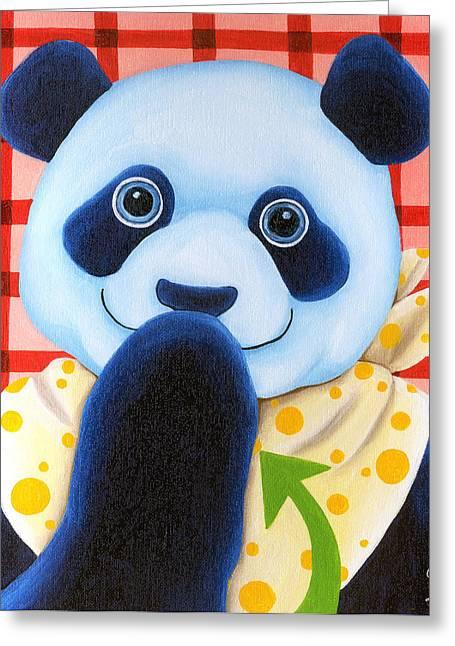From Okin The Panda Illustration 11 Greeting Card by Hiroko Sakai