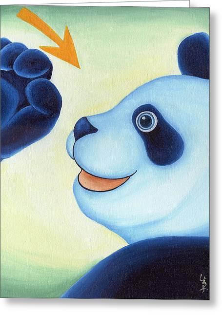 From Okin The Panda Illustration 12 Greeting Card by Hiroko Sakai