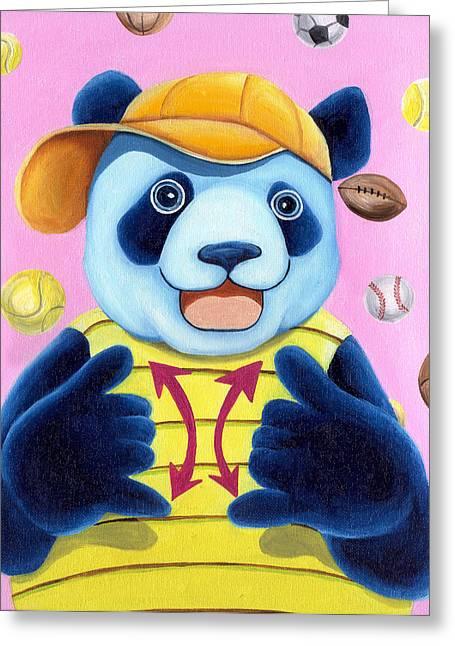 From Okin The Panda Illustration 14 Greeting Card by Hiroko Sakai