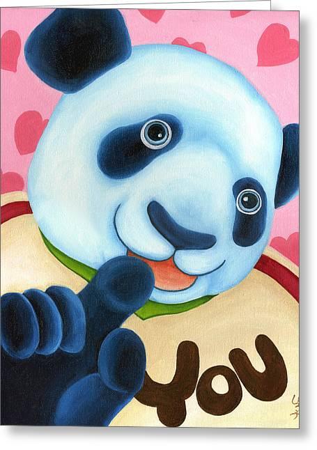 From Okin The Panda Illustration 16 Greeting Card by Hiroko Sakai