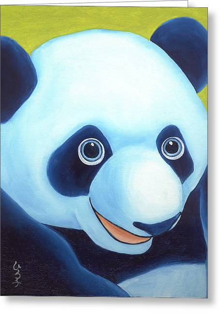 From Okin The Panda Illustration 2 Greeting Card by Hiroko Sakai