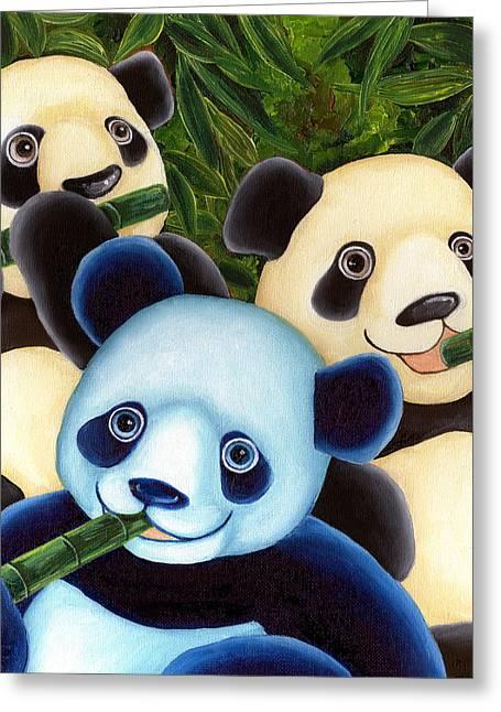 From Okin The Panda Illustration 3 Greeting Card by Hiroko Sakai