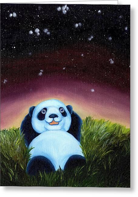 From Okin The Panda Illustration 5 Greeting Card by Hiroko Sakai