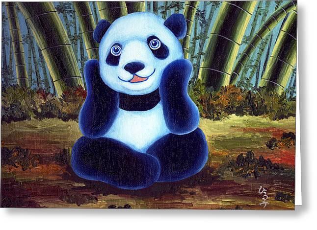 From Okin The Panda Illustration 6 Greeting Card by Hiroko Sakai