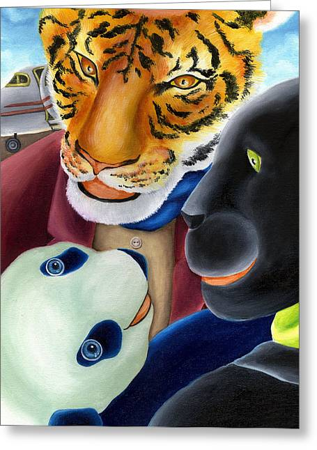From Okin The Panda Illustration 8 Greeting Card by Hiroko Sakai