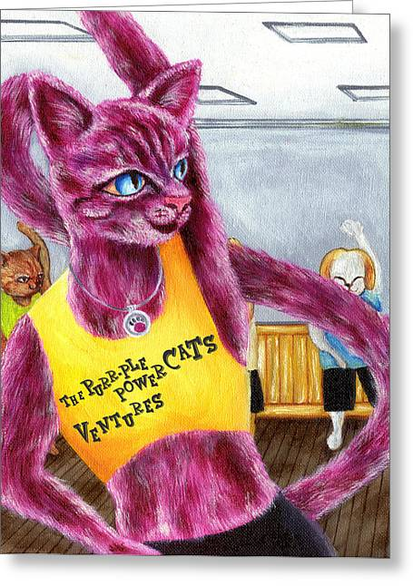 From Purple Cat Illustration 15 Greeting Card